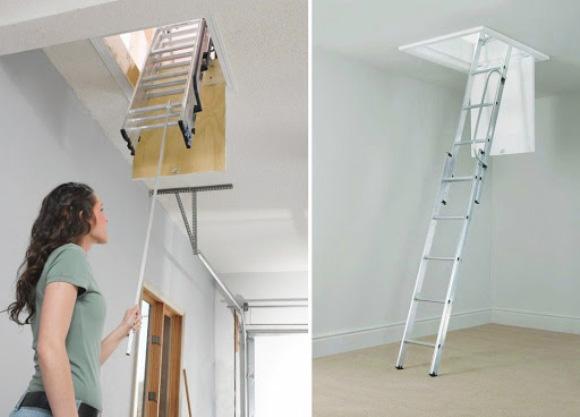 раздвижная лестница для чердака